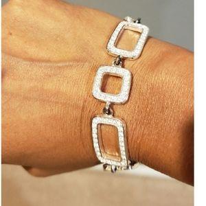 Rhinestone bracelet Square links